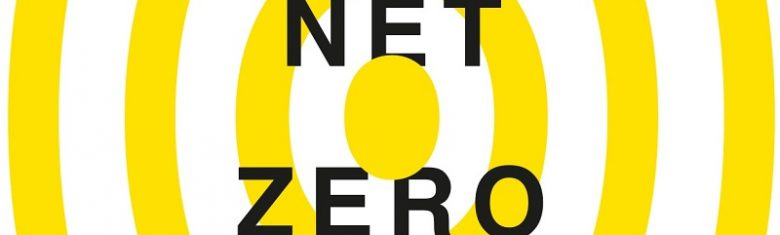 Target image in the Chapter Zero yellow with the words 'Net zero' in the middle
